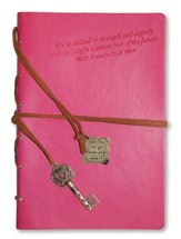 Proverbs 31, Pink Journal with Charm