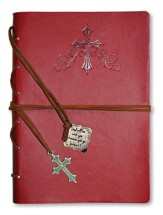 God Be with You, Red Journal with Charm