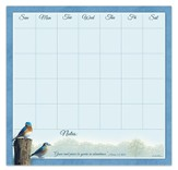 Grace and Peace Be Yours, Weekly Reminder Calendar