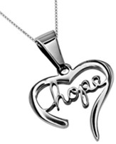 Hope Handwriting Heart Necklace