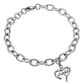 Hope Handwriting Heart Bracelet, Adjustable