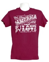 Land That I Love Statue Shirt, Berry,   X-Large