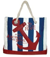 Nautical, Anchor Tote Bag