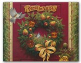 Peace on Earth Wreath, Christmas Cards, Box of 18