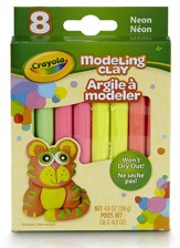 Modeling Clay, Neon Color Assortment, 8 Piece