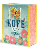 Hope Gives You Courage Gift Bag, Medium