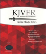 KJVer (Easy Reader) Giant Print Sword Study Bible, Genuine Leather Black, Thumb Indexed