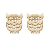 Gold Owl Ear Studs