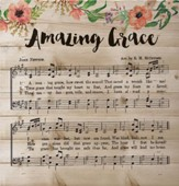 Amazing Grace Music, Lath Wall Art