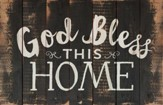 God Bless this Home, Rustic Wall Art