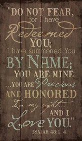 I Have Redeemed You, Rustic Wall Art