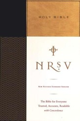 NRSV Standard Bible(without the Apocrypha) (tan/black)  - Imperfectly Imprinted Bibles