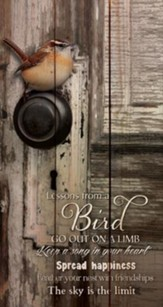 Lessons from a Bird, Rustic Wall Art