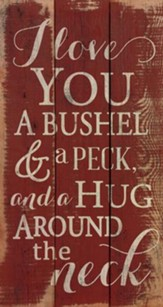 Bushel and Peck, Rustic Wall Art