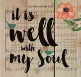 It is Well with My Soul, Floral Music, Rustic Wall Art, Small