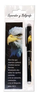 Alas Como las Aguilas, Juego de Marcador de Libro y Lapicero  (Wings As Eagles, Bookmark and Pen Set)