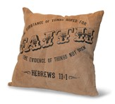 Faith, The Substance Of Things Hoped For, Suede Leather Pillow