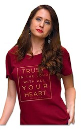 Trust in the Lord Shirt, Burgundy,  Small