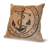 We Have This Hope As An Anchor For the Soul, Suede Leather Pillow
