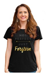 Not Perfect, Ladies Top, Black, X-Large