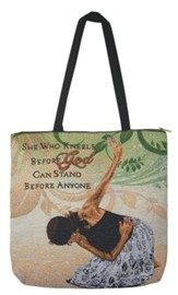 She Who Kneels Before God, Tote Bag