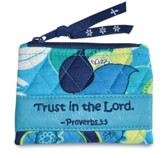 Trust In the Lord, Quilted Floral Coin Purse