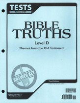 BJU Bible Truths Level D (Grade 10) Tests Answer Key, 3rd Edition