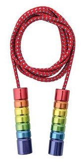 Tin Jump Rope with Rainbow Handles