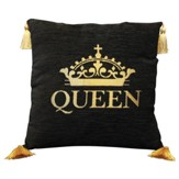 Queen Pillow, Large, Black and Gold