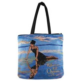 Reflections of a Queen, 1 Corinthians 13:12, Tote Bag