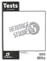 BJU Heritage Studies Grade 5 Tests Packet (Third Edition)