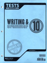 BJU Writing & Grammar Grade 10 Tests Answer Key, Third Edition