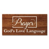 God's Language Wall Plaque
