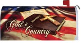 God and Country Mailbox Cover