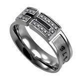 Bless, Canale Women's Ring with Cubic Zirconium, Size 5 (Psalm 34:8)