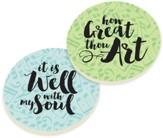 Hymns Car Coasters, Set of 2