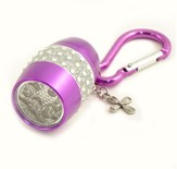 Flashlight, Cross, Bling, Purple