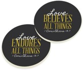 Love All Things Car Coasters, Set of 2