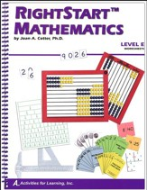 RightStart Mathematics Level E Worksheets, 1st Edition