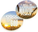 Good Morning This is God, Car Coasters, Set of 2