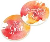 Everything in Love Car Coasters, Set of 2