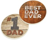 Best Dad Ever Car Coasters, Set of 2