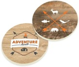 Adventure Awaits Car Coasters, Set of 2