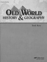 Abeka Old World History & Geography Tests Key