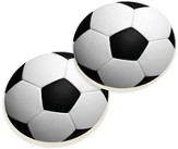 Soccer Ball Car Coasters, Set of 2