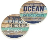Ocean Rules Car Coasters, Set of 2