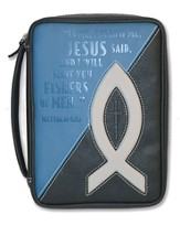 Fishers Of Men, Bible Cover, Black and Blue, X-Large