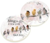 Sing to Him Car Coasters, Set of 2