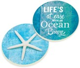 Ocean Breeze Car Coasters, Set of 2