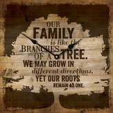 Our Family Is Like the Branches Of A Tree Clock